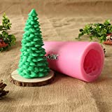 Candle Mold: 3D Pine Christmas Tree Silicone Candle Mold Handmade Soap Craft Resin Decoration Tool Mould