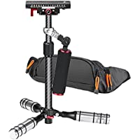 Neewer 15.4 inches/39 Centimeters Carbon Fiber Handheld Stabilizer with Quick Release Plate for Canon Nikon Sony A7 A7S A7SII A7R A7RII A7II A6000 A6300 Cameras Video up to 4.4 pounds/2 kilograms