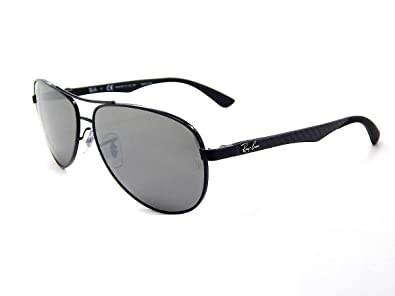 153ffceb63 Image Unavailable. Image not available for. Color  New Ray Ban Carbon Fibre  RB8313 002 K7 Shiny Black   Grey Mirror Black Polar