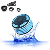 HOT SKY Shower Radios IPX7 Portable Fully Waterproof Bluetooth Speaker built in FM Radio and LED mood lights for Outdoor Sport, Home, Beach, Pool, Kitchen, Home, iPhone Android HS-F013