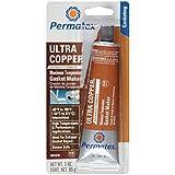 Permatex 81878 Ultra Copper Maximum Temperature RTV Silicone Gasket Maker, 3-Ounce Tube