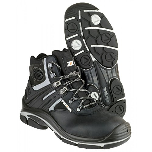 Pezzol Tornado Hi 566 Mens Safety Boots Black Nubuck Leather Lace Up Hiking s9aDnPjyll