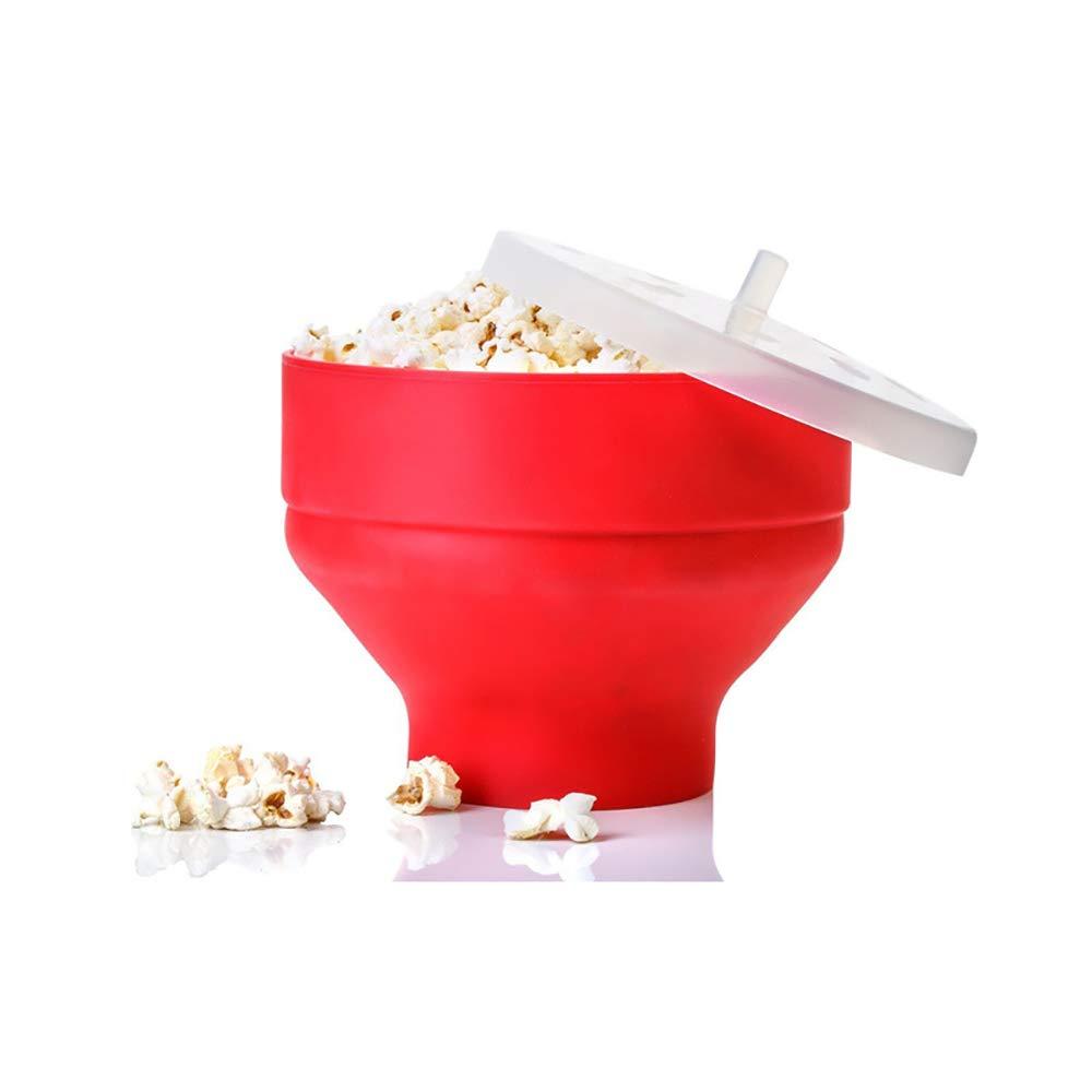 Beuchan Popcorn Popper, microondas de Silicona Popcorn Maker, Palomitas de microondas de Olla Plegable Cuenco con Asas