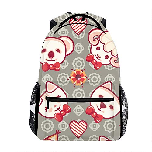 Cute Pets Pattern Backpack for Kids School Laptop Backpack School Bags Rucksack Satchel Hiking Bag