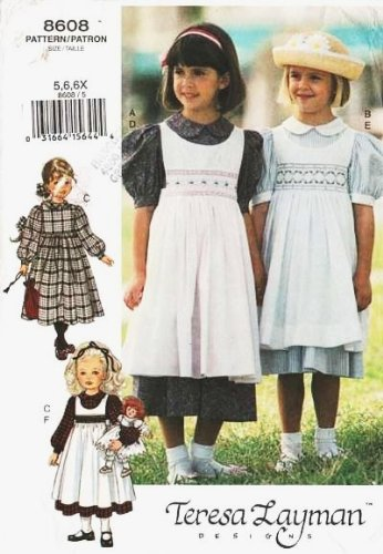 - Little Vogue 8608 ~ Little Girl Dress, Pinafore, Secret Bunny Sewing Pattern (SIZE 5,6,6X)