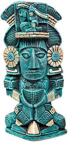 Civilization Sticker - Old Ancient Teal Mayan Aztec Civilization Statue Cartoon Vinyl Sticker (4