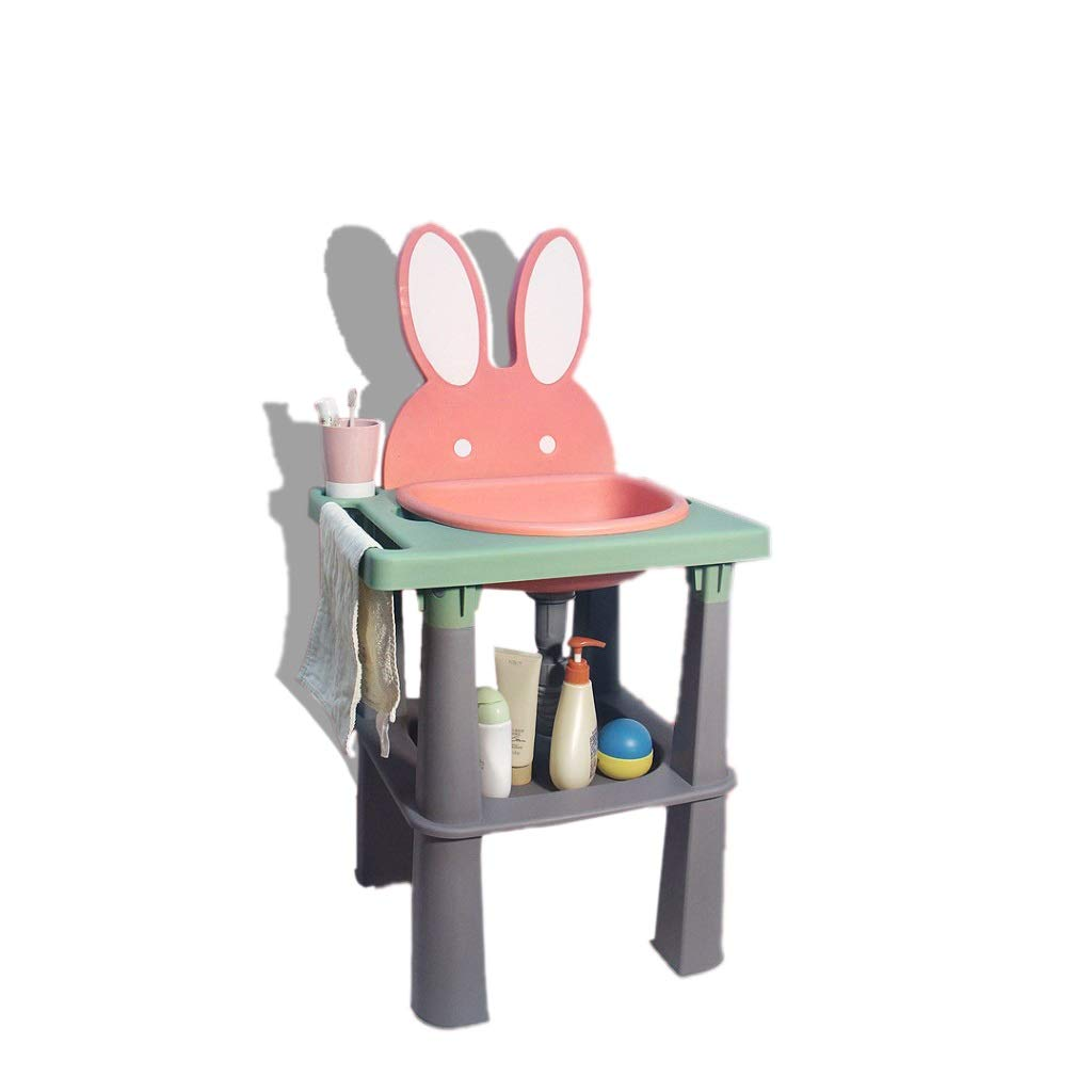 ZHAO ZHANQIANG Children Safe Portable washbasin,Kids washbasin for 6 Months to 10 YearsOld. (Cherry Pink)