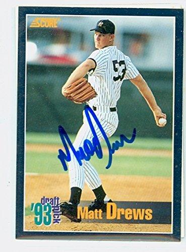Matt Drews AUTOGRAPH 1994 Score New York Yankees