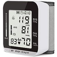 OIOSEN Baumanometro automático de muñeca, Brazalete Monitor de presión Arterial con Pantalla LCD y función de Voz Inteligente para detectar latidos Irregulare