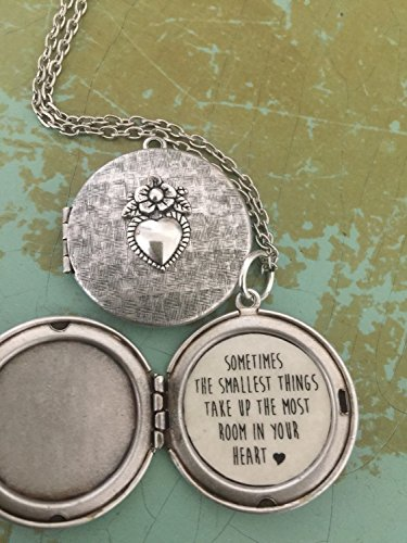 Sometimes The Smallest Things Take Up The Most Room In Your Heart, Pooh Necklace, Pooh Locket, Daughter Gift, new mom jewelry