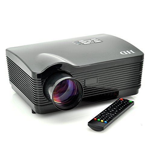 Multimedia HD 1080P LED Projector for Home Cinema by The Emperor of Gadgets® - Supports Laptop PC, DVD Player, Smartphone, Tablet, Video Game Consoles and More (Black) by Emperor of Gadgets
