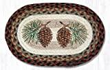 10''x15'' Burgundy/Black/Sage Pinecone Oval Small Placemat