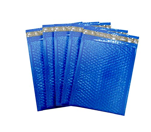 Blue poly Bubble Mailers. Pack of 20. Usable space 6 x 9 (6x9). Exterior size 7 x 9 (7x9). Mailing & shipping & packaging padded envelopes. Top quality. Cobalt & Azure color. Mfg# 6 1/2 x 9. (Cobalt Brandy)