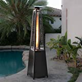 Belleze 42,000BTU Deluxe Propane Patio Heater Pyramid Dancing Flame (CSA Certified) - Black