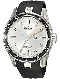 Men's 'Grand Ocean' Swiss Automatic Stainless Steel and Rubber Diving Watch, Color:Black (Model: 88002 3ORCA ABUN)