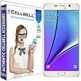 Cellbell Premium Samsung Galaxy Note 5  Tempered Glass Screen Protector (Comes with Warranty,User guide,Complimentary Prep cloth)-Bronze Edition