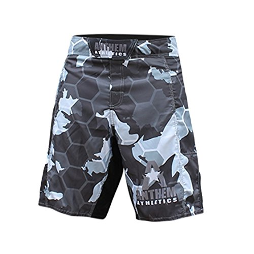 Snow Camo Shorts - Anthem Athletics RESILIENCE MMA Shorts - Snow Camo Hex - 35