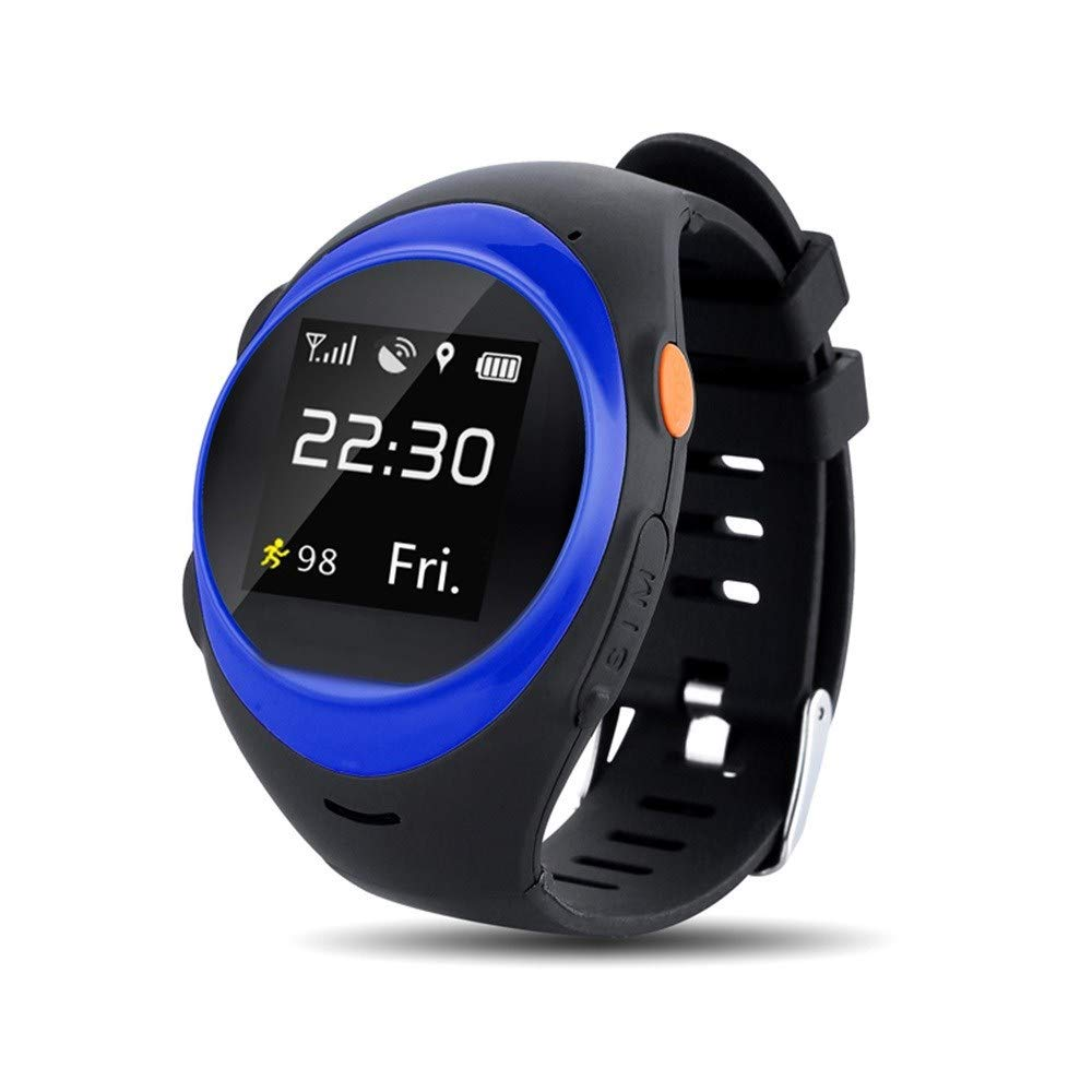 RedBrowm Smart Watch for Women Men with Bluetooth and WiFi,Color screensmart,Activity Tracker and Sleep Monitor,Global WiFi Tracking System SOS GPS Old Man Anti-Fall Alarm Smart Watch