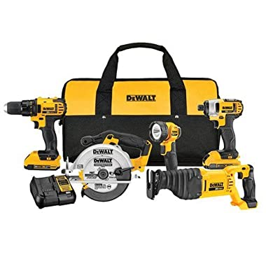 Dewalt 20-Volt Max Lithium-Ion Cordless Combo Kit (Includes 2 Lithium-Ion Batteries)