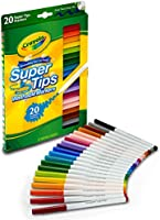 Crayola 20 Super Tips Washable Markers, Supertips, Back to school, Arts and Crafts, School supplies, Gifting