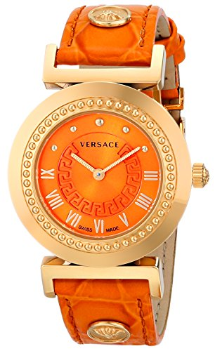 Versace Women's P5Q80D165 S165 VANITY Analog Display Quartz Orange Watch