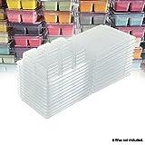 Wax Melt Molds - 100 Pack Clear Wax Molds Plastic Wax Melt Clamshells by DGQ