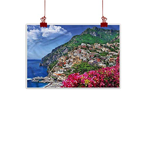 Decor Naples - Mangooly Canvas Prints Wall Decor Art Italy,Positano Amalfi Naples 24