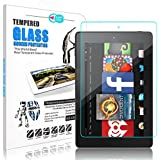 All-New Kindle Fire 7 tablet Screen Protector, Elegant Choise 9H High Definition Bubble Free Anti-Fingerprint Scratch Resistant Tempered Glass Screen Protector for Amazon Fire 7 2017 Release (1 Pack)