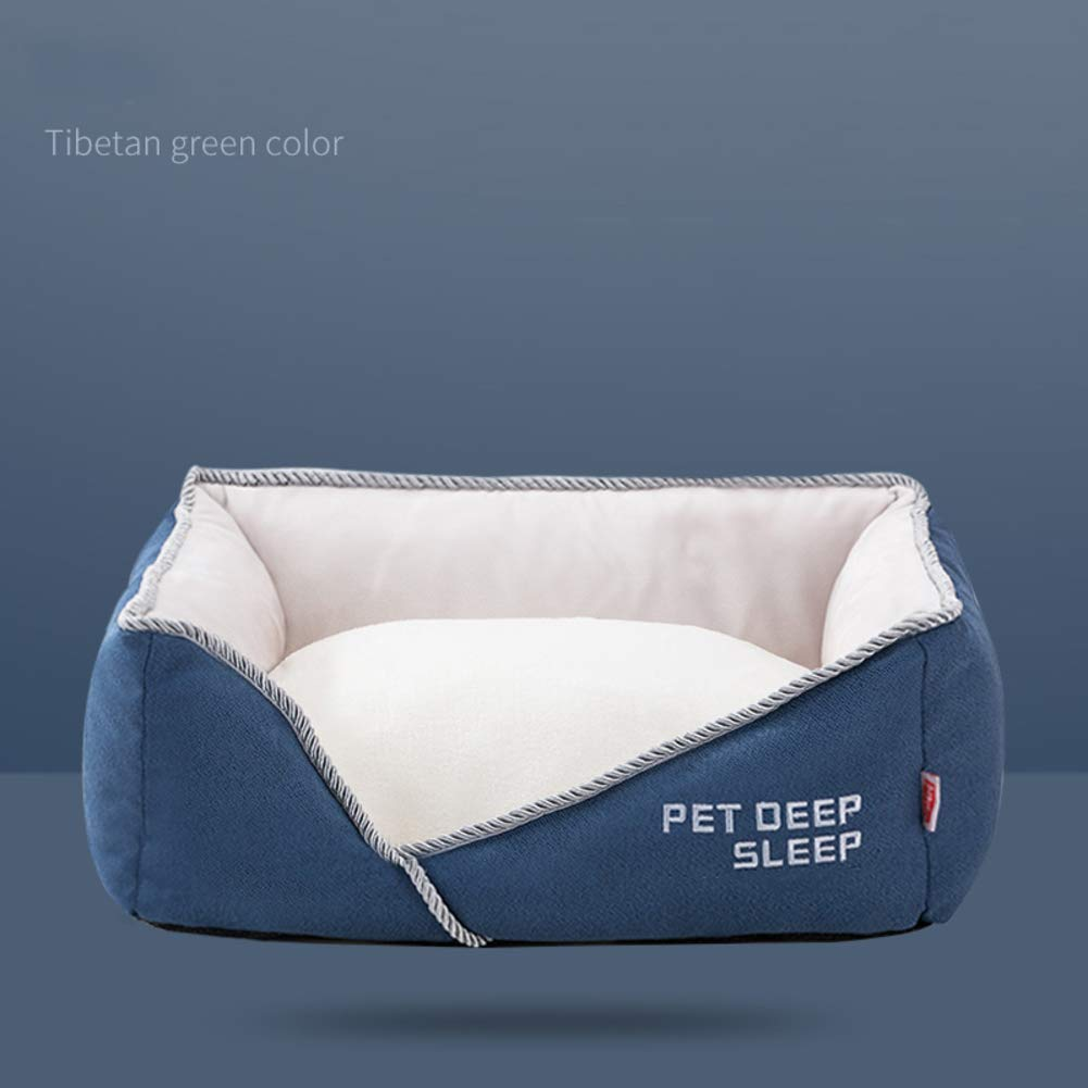 Gperw Flannel Dog bed, Durable Non-skid Waterproof Pet nest Removable cover Wear resistant-A M Non Slip Cushion Pad