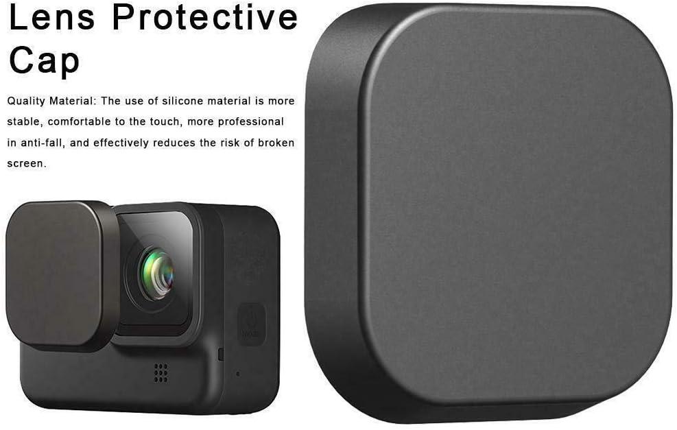 Color Negro Tapa Protectora de Lente para c/ámara GoPro Hero 8