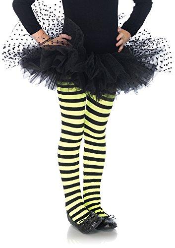 Leg Avenue Tulle Tutu with Mesh Flocked Polka Dots, One Size, Black ()