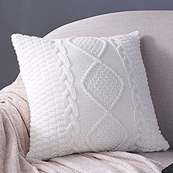 Amazon Fashion Cotton Cable Knit Pillowcushiondouble Side