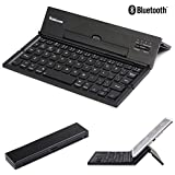Bluetooth Keyboard, Moleboxes™ Universal Portable Foldable Bluetooth 3.0 Wireless Keyboard with Kickstand Stand Holder For Apple iPad iPhone IOS,Andriod Windows Smartphone Tablet (Black)