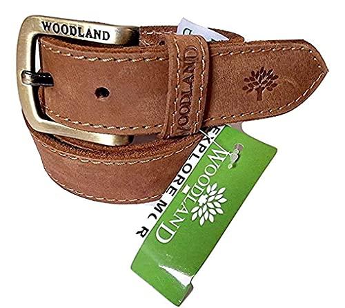 Woodland Men's Leather Belt (Camel,Size:30)