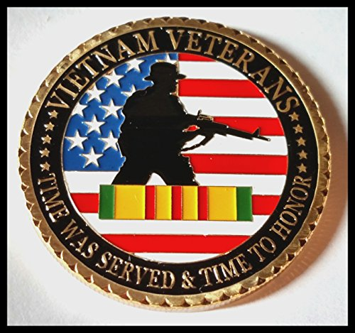 - US. Military Vietnam Veterans 24K Gold Plated Challenge coin 1061#