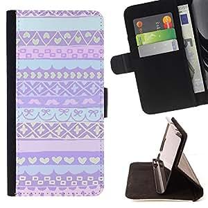 - Queen Pattern FOR Apple Iphone 5 / 5S /La identificaci????n del cr????dito ranuras para tarjetas tir????n de la caja Cartera de cuero cubie - pink purple Nordic Alaska winter sw