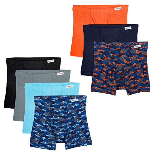 Fruit of the Loom Boys' Big Boxer Brief, Exposed and Covered Waistband, Assorted (Pack of 7), X-Large