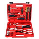 8milelake Brake Caliper Drum Brake Change with Brake Spring Pliers and Clean Brush Car tool kit