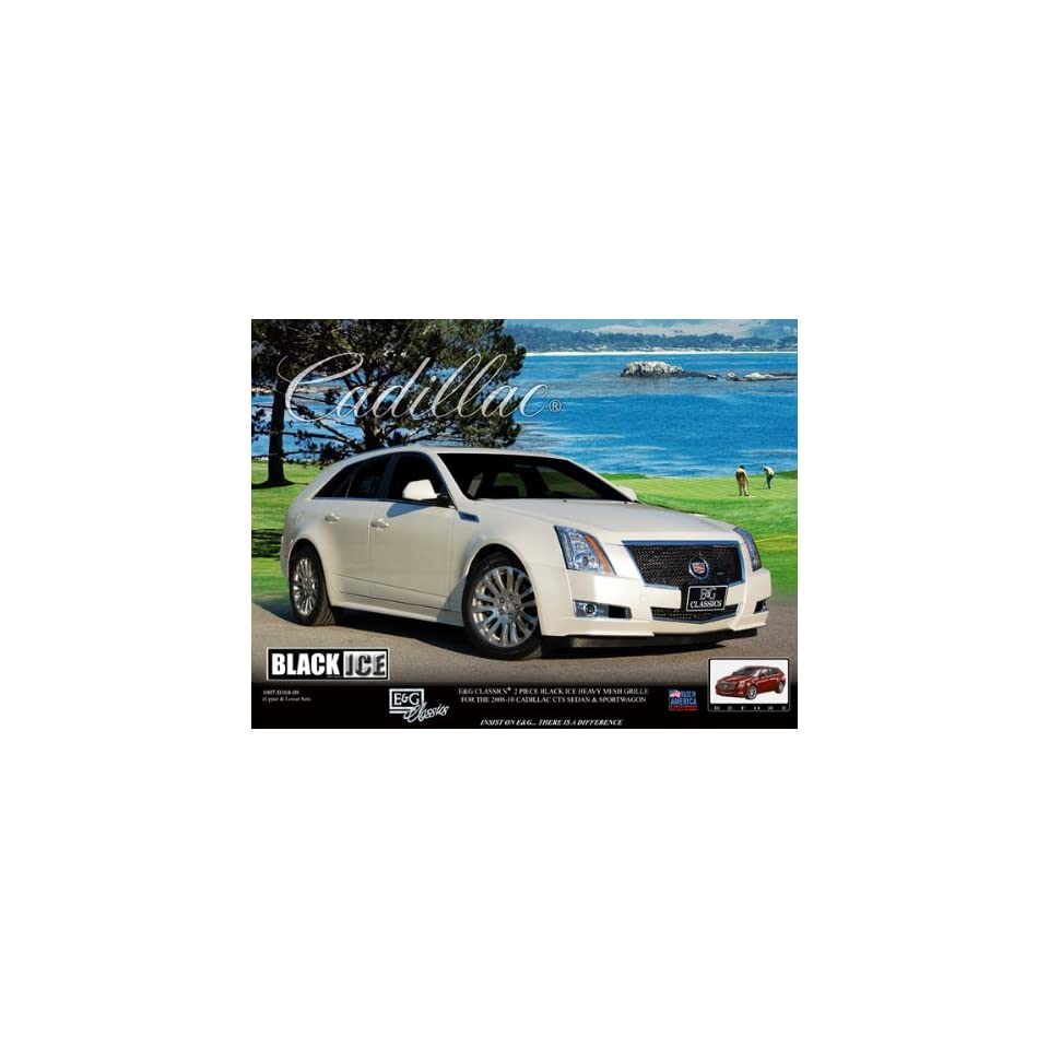 2008 2011 Cadillac CTS Coupe & Sedan 2pc Classics Heavy Metal Mesh Grille Grill BLACK ICE