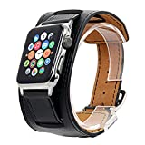 Best Leather Cuffs - V-Moro 42mm Cuff Bracelet Leather Band with Metal Review