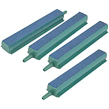 Pawfly 4PCS Air Stone Bar 4 Inch Bubble Release Mineral Airstones for Fish Tank Aquarium Hydroponics Pump Green/Blue