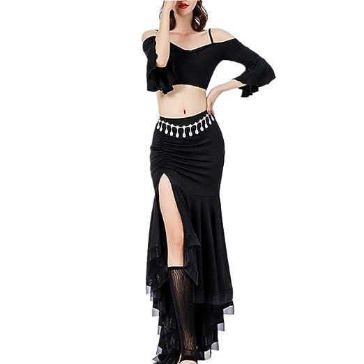 Mujer Vestido de Danza Latino Falda de danza del vientre Falda de ...