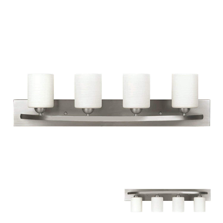 Brushed Nickel 4 Globe Vanity Bath Light Bar Interior Lighting Fixture by HowPlumb