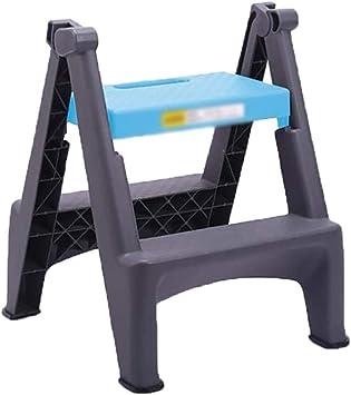 BBG Escaleras de Tijera, Taburete Plegable de Plástico para Interiores de la Familia Taburete de 2 Escalones, Escalera Plegable de Uso Múltiple para el Hogar, Estanterías de Interior,Azul: Amazon.es: Bricolaje y herramientas