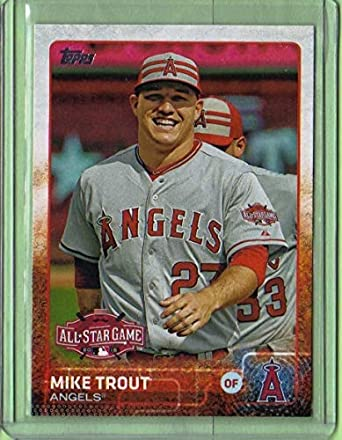 various colors b9aee ed7bf Amazon.com: 2015 Topps Update #US364 Mike Trout ...