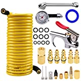 Cheap astarye 1/4″X 25FT PVC Air Compressor Hose With 18 Piece Air Tool and Accessory Kit. Air Accessories Kit and Air Hose