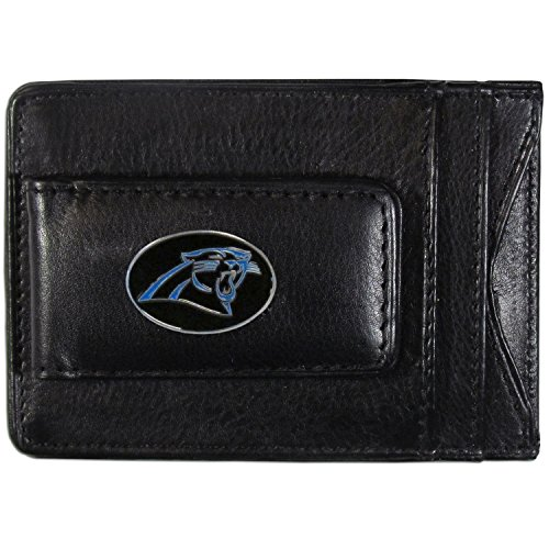 NFL Carolina Panthers Leather Money Clip Cardholder