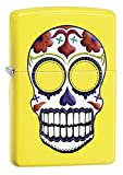 Zippo Sugar Skull Lemon Matte Pocket Lighter