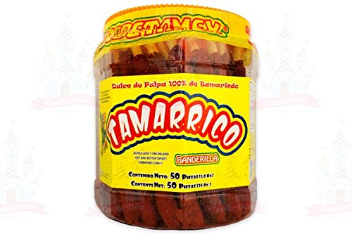 Tamarrico Tarugos Tamarindo Con Chile Mexican Tamarind Candy Sticks 50 Pcs 1kg