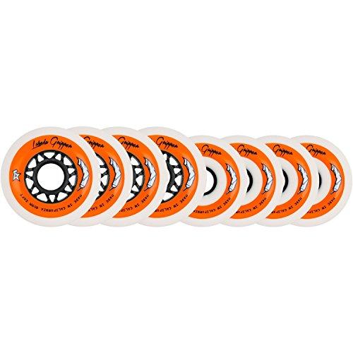 White Roller Hockey Inline Wheels 76mm 80mm SOFT 78A ()